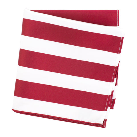 Red & White Striped Handkerchief