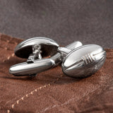 Sterling Silver Rugby Ball Cufflinks