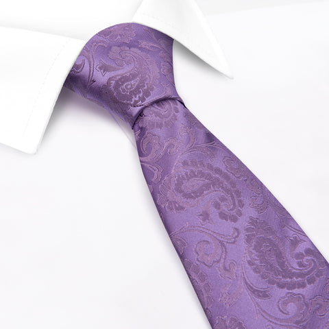 Classic Lilac Paisley Silk Tie