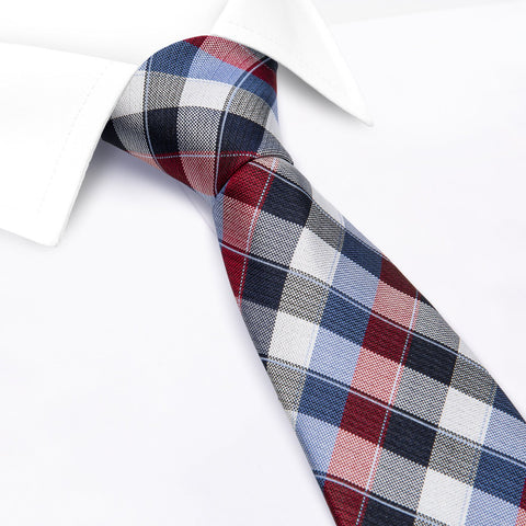 Multi Check Luxury Silk Tie