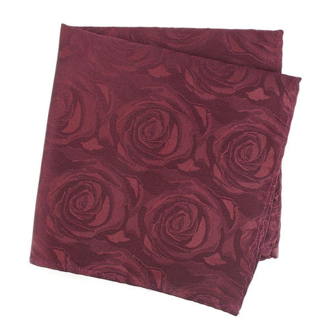 Wine Rose Luxury Woven Silk Handkerchief