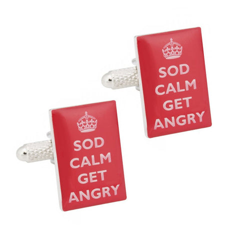 Sod Calm Get Angry Cufflinks