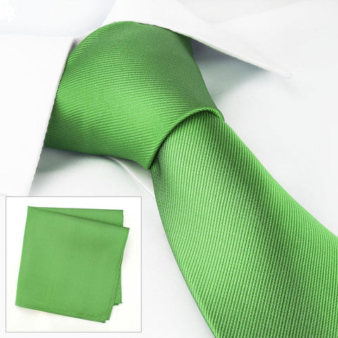 Emerald Green Silk Tie & Handkerchief Set