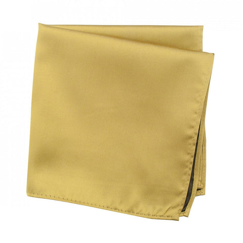 Plain Gold Silk Handkerchief