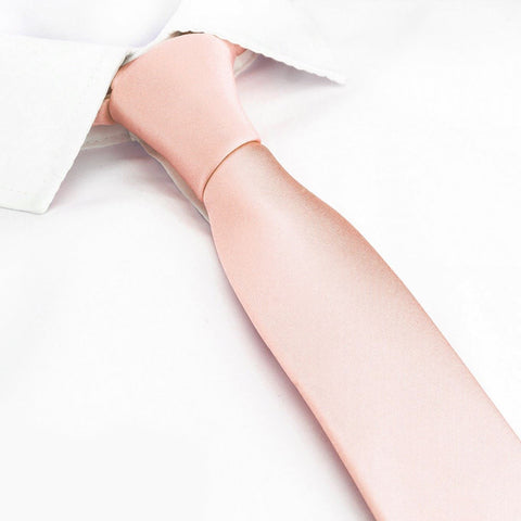 Dusty Salmon Slim Silk Tie