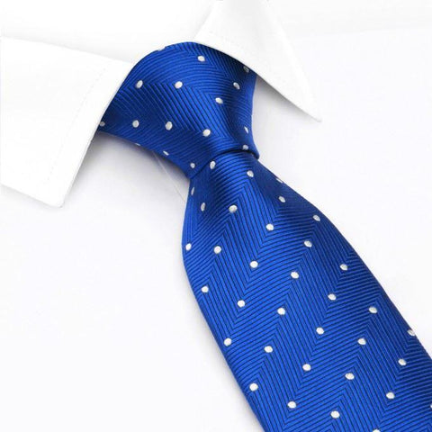 Royal Blue Aztec Polka Dot Silk Tie