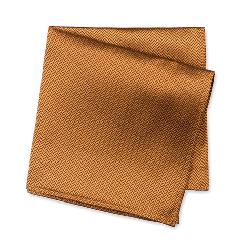 Bronze Herringbone Silk Handkerchief