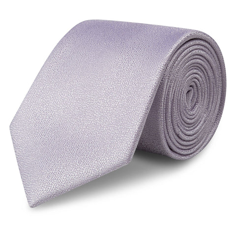 Pastel Lilac Textured Woven Silk Tie