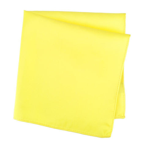 Plain Fluro Yellow Silk Handkerchief