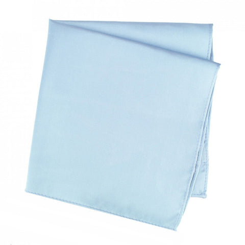 Plain Sky Blue Silk Handkerchief
