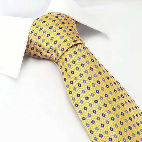 Yellow Diamond Luxury Silk Tie
