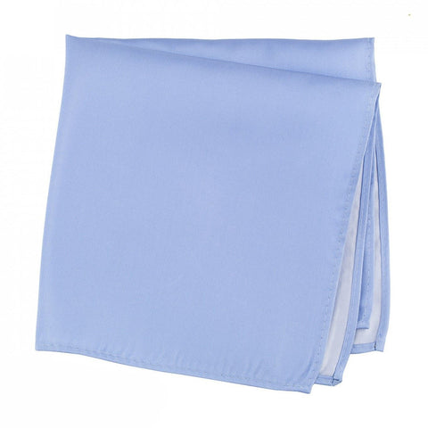 Plain Light Blue Silk Handkerchief