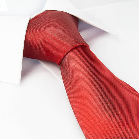 Plain Red Woven Tie
