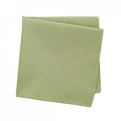 Plain Moss Green Woven Silk Handkerchief