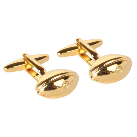 Gold Rugby Ball Cufflinks