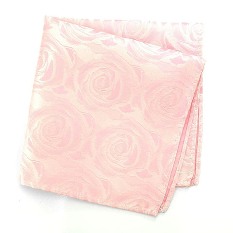 Pink Rose Luxury Woven Silk Handkerchief