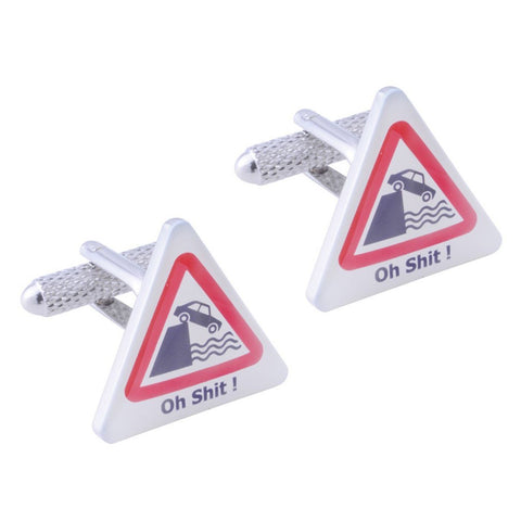 Oh S*** Road Sign Cufflinks