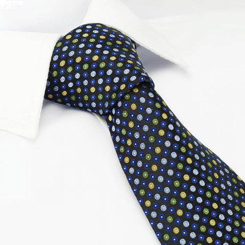Blue Multi Spot Luxury Silk Tie