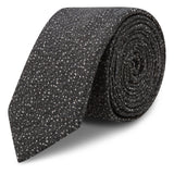 Charcoal Textured Fleck Slim Tie