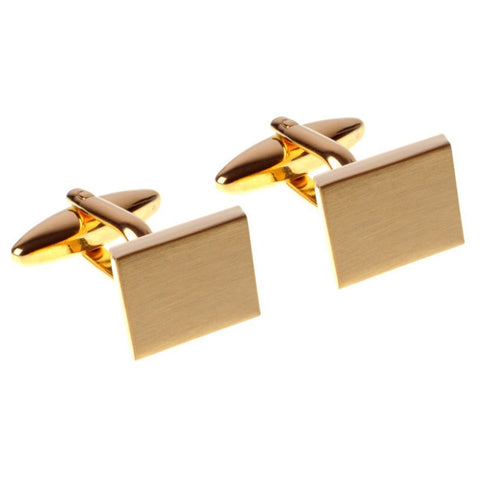 Gold Parallelogram Cufflinks