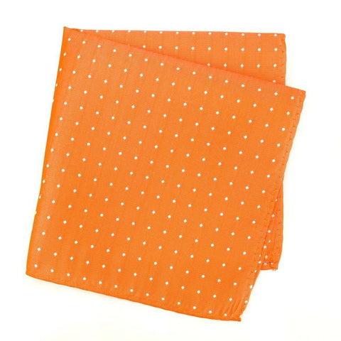 Orange Polka Dot Silk Handkerchief