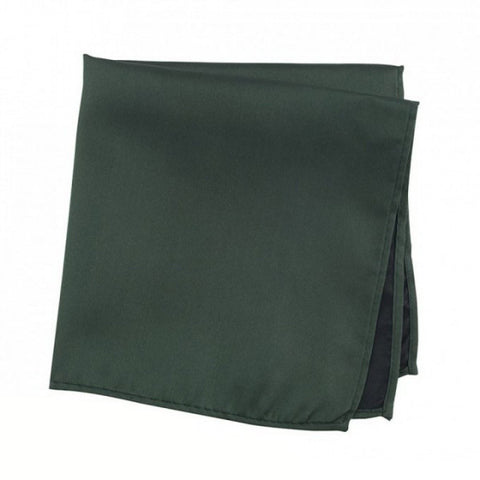 Plain Dark Green Silk Handkerchief