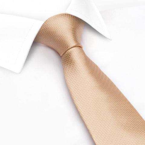 Peach Herringbone Silk Tie