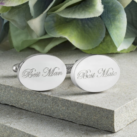 Best Man Best Mate Wedding Cufflinks