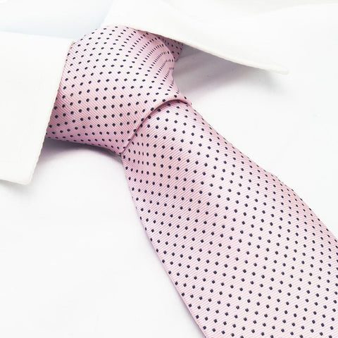 Pink Neat Pin Dot Silk Tie