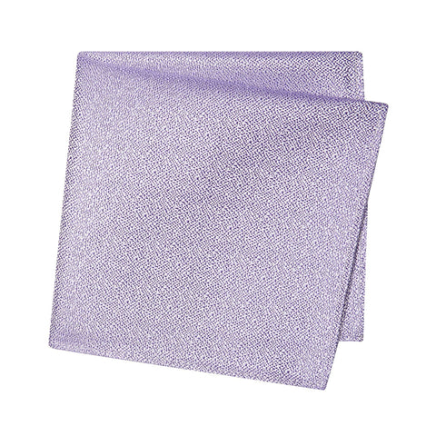 Pastel Purple Textured Woven Silk Handkerchief