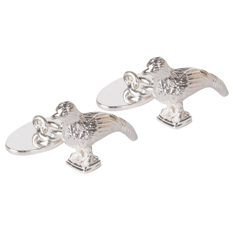 Silver Plated Pheasant Chain Cufflinks