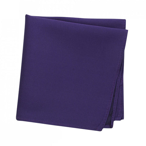 Plain Purple Woven Silk Handkerchief