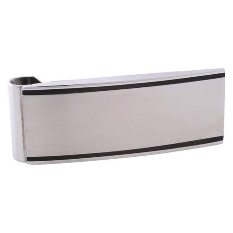Stainless Steel Black Edged Money Clip