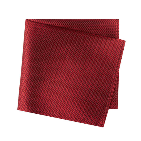 Red Herringbone Silk Handkerchief
