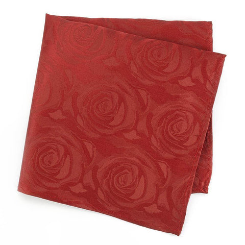 Red Rose Silk Handkerchief