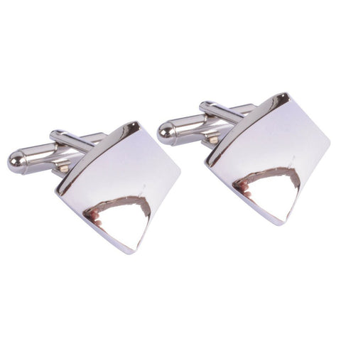 Sculpted Silver Squares Cufflinks