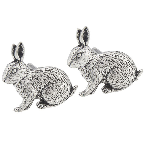 Pewter Rabbit Cufflinks