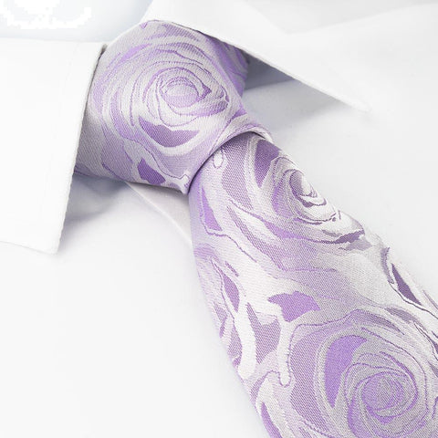 Lilac Rose Woven Silk Tie