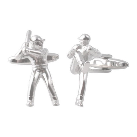 Baseball Batsman & Pitcher Cufflinks