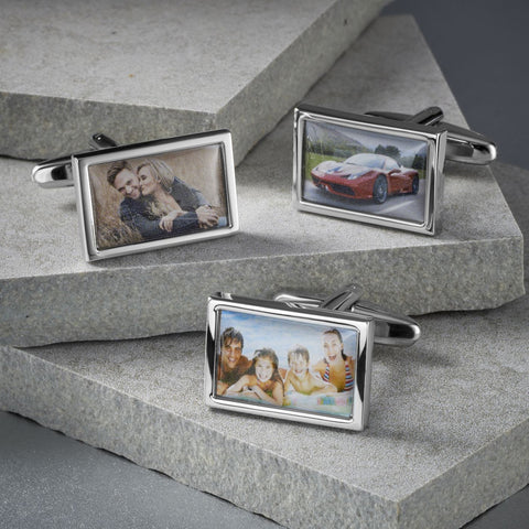 Personalised Rectangle Photo Cufflinks