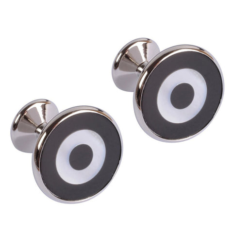 Mother of Pearl Cat Eye Design Cufflinks