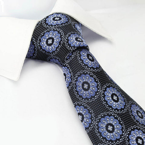 Blue Petals Luxury Silk Tie