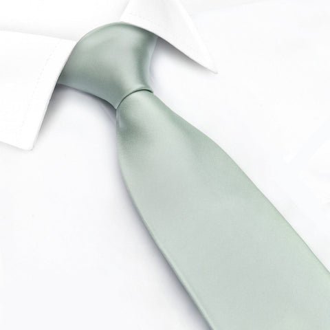 Plain Mint Silk Tie