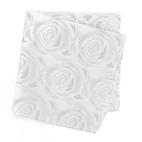 Silver Rose Luxury Woven Silk Handkerchief