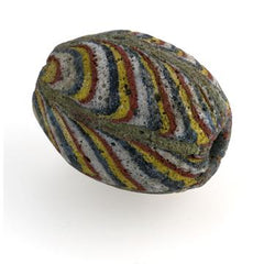 Ancient East Java Pelangi rainbow Jatim bead replica 25-29mm