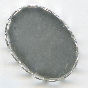 b9-0995-Silver metal loop bezel setting for 18x12mm cabochon. Pkg of 4