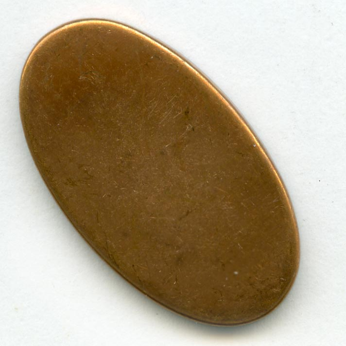 Red brass cabochon setting for 31x17mm stone. Pkg of 1. b9-0965(e)
