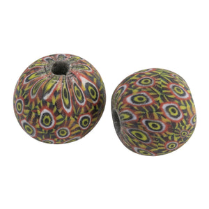 Ancient Indonesian Jatim bead replica. 20mm. Sold individually.  b1-920