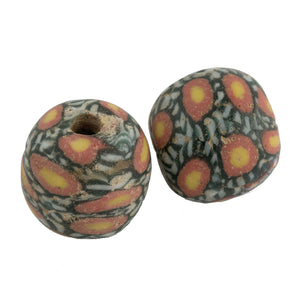 Ancient Indonesian Jatim bead replica. 18mm. Sold individually.  b1-926