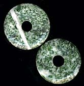 Tree agate donuts. 35mm. Pkg of 1. B4-aga188